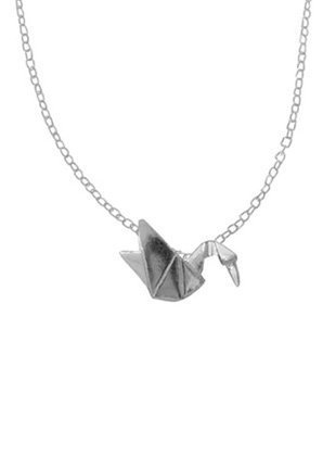 Boma Sterling Silver Origami Crane Necklace 16 Inches